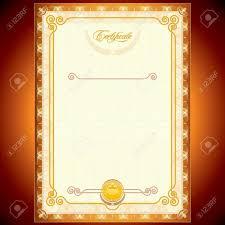 Plantilla En Blanco De Certificados De Oro O Su Diseño Ilustraciones