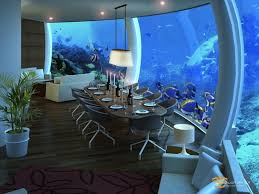 hydropolis underwater resort hotel. Luxury Poseidon Undersea Resort : Comfortable Dining Set At Underwater Hotel Hydropolis N