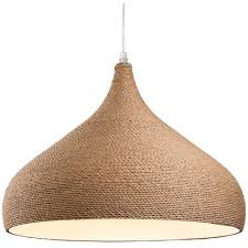 brown rope wrapped ceiling pendant light