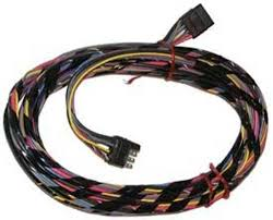 wiring harnesses marine engine parts fishing tackle basic 4 Prong Wiring Harness wire harness square male to square female 8 pin 4 feet marine color coded 4 prong trailer wiring harness diagram