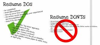 Beautiful Resume Do And Don Ts Pictures - Simple resume Office .