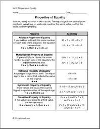 Properties Of Equality Elem Upper Elem Math Abcteach