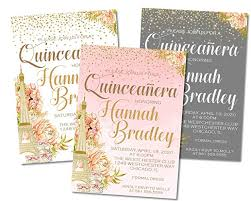 Quincenera Invitations Amazon Com Paris Quinceanera Birthday Party Invitations