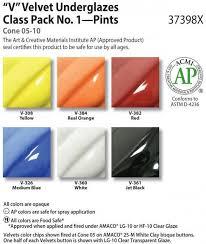 Amaco Velvet Underglaze Class Pack 6 Pints