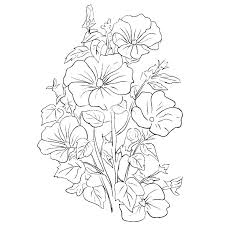 Bouquet Of Roses Coloring Pages Stockware