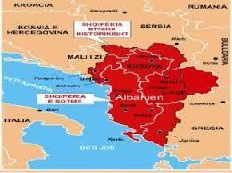 Billedresultat for harta e shqiperis së bashkuar