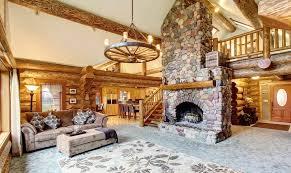 Log cabin interiors designs Modular Classic Log Cabin Interior Log Cabin Hub 22 Luxurious Log Cabin Interiors You Have To See Log Cabin Hub