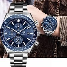 Waterproof Watch for Men Metal Strap Quartz <b>Watch Men's Fashion</b> ...