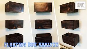 my next project floating box shelves  youtube