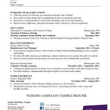 Nursing Assistant Resume Unique Home Health Nursing Assistant Resume