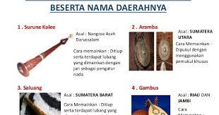 Hal ini merupakan harta budaya yang tak ternilai harganya yang tetap atau harus kita. Alat Musik Dan Upacara Adat Seluruh Daerah Di Indonesia Ocehan Ade Anita