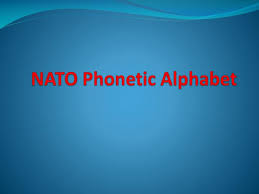 International phonetic alphabet (ipa) symbols used in this chart. Ppt Nato Phonetic Alphabet Powerpoint Presentation Free Download Id 2622090