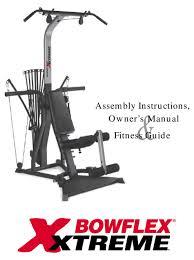 bowflex xtreme embly instructions