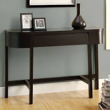 attractive half moon console table with drawers on black and white long foyer entryway contemporary storage oak narrow modern tables sofa small wood
