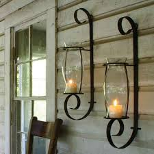 candle lantern wall sconce from glass candle holders