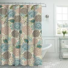 floral shower curtain. Oxford Fabric Weave Textured Floral Shower Curtain Set