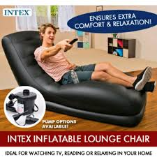 Intex inflatable lounge chair Cup Holder ready Stocks Intex Inflatable Stylish Mega Lounge Chair Furniture Sofas On Carousell Carousell Ready Stocks Intex Inflatable Stylish Mega Lounge Chair