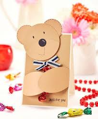 diy teddy bear card