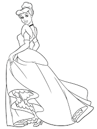 coloring pages disney cinderella page