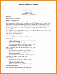12 Hotel Receptionist Resume Sample Boy Friend Letters