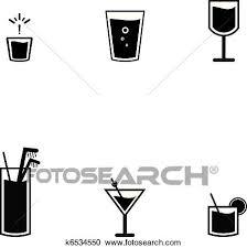 アイコン の バー 飲み物 クリップアート切り張りイラスト絵画集