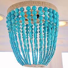 ro sham beaux malibu turquoise beaded chandelier