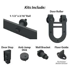 view a larger image of pro decors black solid steel decorative sliding rolling barn door hardware