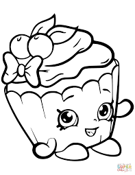 Nice Coloring Pages With Cherry Nice Cupcake Shopkin Coloring Page