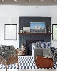 black painted brick