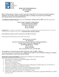 Bid Proposal Letter Request For Proposal Bid Number 001048