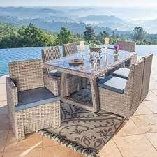 niko 7 piece patio dining set in slate