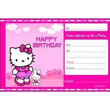 invitation card hello kitty hello kitty birthday card template best of invitation free cool