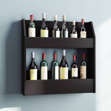 Wall mounted wine bottle rack Vintage Wall Red Barrel Studio Chancey 24 Bottle Wall Mounted Wine Rack Reviews Wayfair Wayfair Red Barrel Studio Chancey 24 Bottle Wall Mounted Wine Rack Reviews
