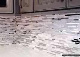 modern white marble glass metal kitchen backsplash tile