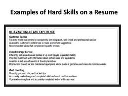 resume soft skills example