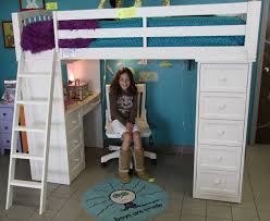 awesome girls loft bed with full drawer and desk underneath inspiring full drawer loft beds for teenagers white wood loft beds