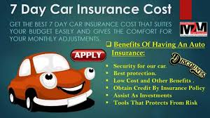 get instant quotes for 7 day car insurance under 25 you