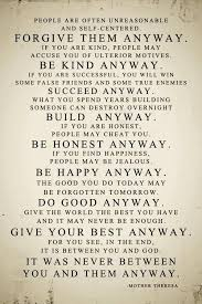 Mother Teresa Quotes Love Anyway Simple People Are Often Unreasonable And Self Centered Mother Teresa