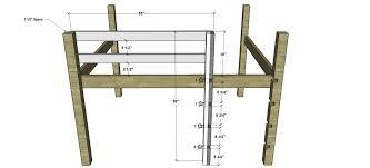 Plans For A Loft Bed Frame Modern Design Loft Bed Frame Plans Loft Bed Frame Plans