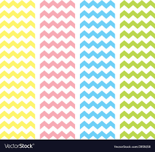 zig zag pastel chevron tile pattern set vector image