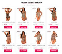 SEBOWEL <b>Leopard Print</b> Backless Woman Bodysuit <b>Sexy</b> V neck ...