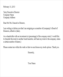 Resignation From The Company Sample Corporate Resignation Letters 10 Free Sample