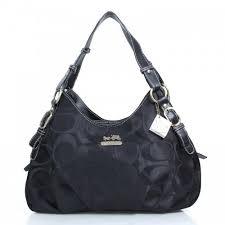 Coach Fashion Signature Medium Black Shoulder Bags DZK