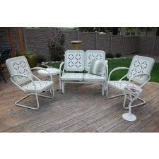 vintage metal patio furniture. Fine Metal Vintage Metal Lawn Chairs Set  Fresh Painted  On Patio Furniture D