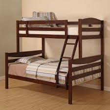 solid walnut brown bunk bed children bunk beds safety