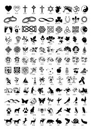 Custom Engraved Stone Available Symbols