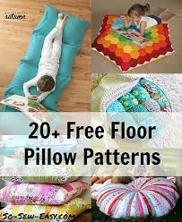 Pillow Patterns Amazing 48 Free Floor Pillow Patterns So Sew Easy