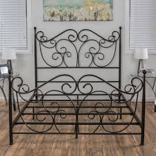 Lorelei Metal Bed Frame by Christopher Knight Home (Queen), Brown in ...