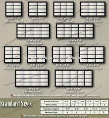 industrial garage door dimensions. Standard Size Commercial Garage Doors Wageuzi Industrial Door Dimensions N