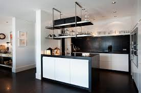 modern kitchen black and white. View In Gallery Space-saving Solutions For The Modern Kitchen Black And White